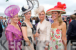 Glamour: Kerry Ladies adding a touch of glamour to the Galway races on Thursday last were l-r: Hazel, Dervil and Avril O'Connell, Killarney with Louise Huggard from Waterville. Both Dervil and Avril were finalists in the Best Dressed Lady Competition.   Copyright Kerry's Eye 2008