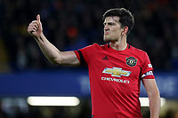 A thumbs up from Manchester United captain, Harry Maguire during Chelsea vs Manchester United, Premier League Football at Stamford Bridge on 17th February 2020