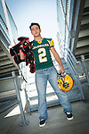 Josiah Santana senior session in Green Bay, Wis., on August 21, 2015.