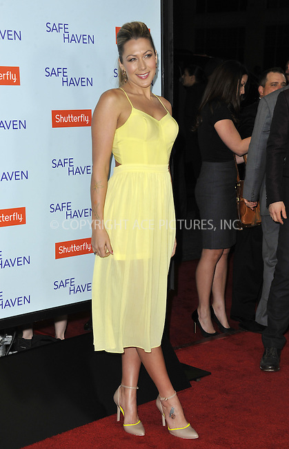WWW.ACEPIXS.COM....February 5 2013, LA....Colbie Caillat arriving at the 'Safe Haven' - Los Angeles Premiere at TCL Chinese Theatre on February 5, 2013 in Hollywood, California.....By Line: Peter West/ACE Pictures......ACE Pictures, Inc...tel: 646 769 0430..Email: info@acepixs.com..www.acepixs.com