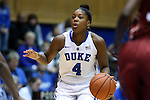 17 December 2014: Duke's Sierra Calhoun. The Duke University Blue Devils hosted the University of Oklahoma Sooners at Cameron Indoor Stadium in Durham, North Carolina in a 2014-15 NCAA Division I Women's Basketball game. Duke won the game 92-72.