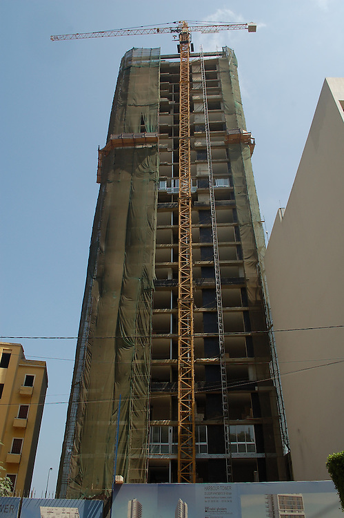 Harbour Tower residential project on Charles Helou Avenue in Gemayzeh district of downtown Beirut. The 25-storey project is part of the redevelopment of the city. The architect is Nabil Gholam.