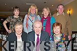 Jimmy Deenihan Celabration: Attending the celebration to honour Jimmy Deenihan's, T.D. to the office of Minister for Arts, Heritage & the Gaeltach at the Listowel Arms Hotel, Listowel on Saturday night last were members of Jimmy's family. Front : Annette Egan, sister,  Jimmy Deenihan & his wife Mary...Back : Caroline Egan, niece, Patricia Deenihan, sister, Eileen, sister & her husban Noel Byrne.