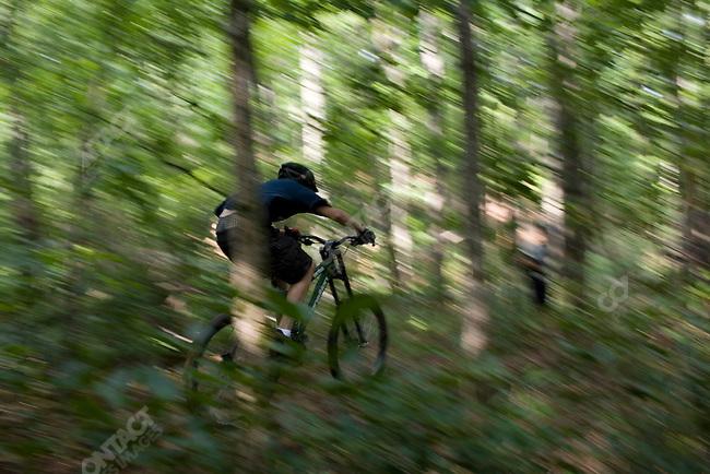 Mountain Biking at Falling Creek Boys Camp. Tuxedo, North Carolina, July 6, 2007