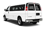 Car pictures of rear three quarter view of 2018 GMC Savana-Passenger 3500-LS-Ext 5 Door Passenger Van Angular Rear