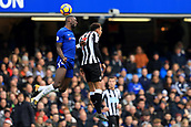 2nd December 2017, Stamford Bridge, London, England; EPL Premier League football, Chelsea versus Newcastle United; Antonio Rudiger of Chelsea battles to win a header against Jacob Murphy of Newcastle United