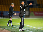 St Johnstone v Motherwell....26.01.11  .Derek McInnes shouts.Picture by Graeme Hart..Copyright Perthshire Picture Agency.Tel: 01738 623350  Mobile: 07990 594431