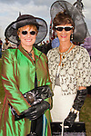 Carmel Ni Luanai and Maura Lillis dressed up for the Bellewstown Races..Picture: Shane Maguire / www.newsfile.ie.