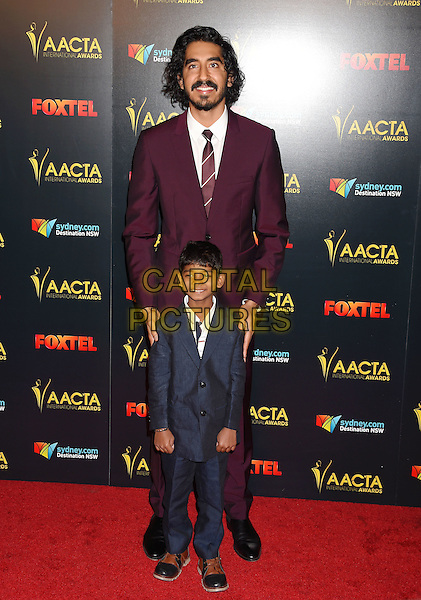 LOS ANGELES, CA - JANUARY 06: Actors Dev Patel and Sunny Pawar arrive at the 6th AACTA International Awards at Avalon Hollywood on January 6, 2017 in Los Angeles, California.<br /> CAP/ROT/TM<br /> &copy;TM/ROT/Capital Pictures