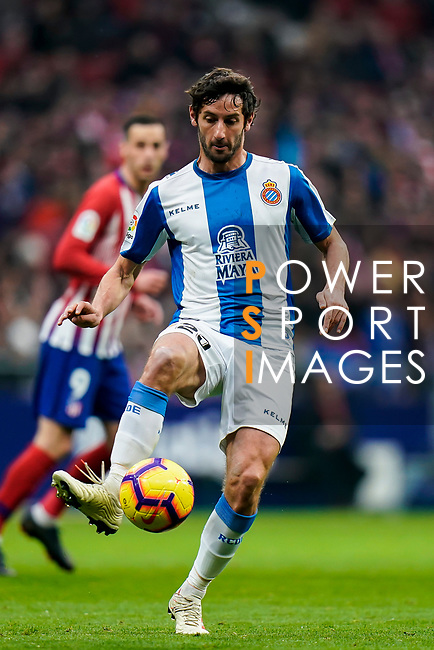 Javier Puado Diaz of RCD Espanyol in action during the La Liga 2018-19 match between Atletico de Madrid and RCD Espanyol at Wanda Metropolitano on December 22 2018 in Madrid, Spain. Photo by Diego Souto / Power Sport Images