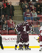 -  - The Harvard University Crimson defeated the visiting Colgate University Raiders 7-4 (EN) on Saturday, February 20, 2016, at Bright-Landry Hockey Center in Boston, Massachusetts.