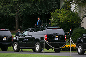 United States President Donald J. Trump departs the White House to speak at the 2017 Value Voter Summit, on Thursday, October 13, 2017 in Washington, D.C. <br /> Credit: Al Drago / Pool via CNP
