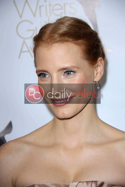 Jessica Chastain<br /> at the 2013 Writers Guild Awards, JW Marriott, Los Angeles, CA 02-17-13<br /> David Edwards/DailyCeleb.com 818-249-4998