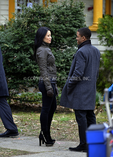 WWW.ACEPIXS.COM....March 11 2013, New York City....Actress Lucy Liu on the Brooklyn set of the TV show 'Elementary' on March 11 2013 in New York City......By Line: Curtis Means/ACE Pictures......ACE Pictures, Inc...tel: 646 769 0430..Email: info@acepixs.com..www.acepixs.com