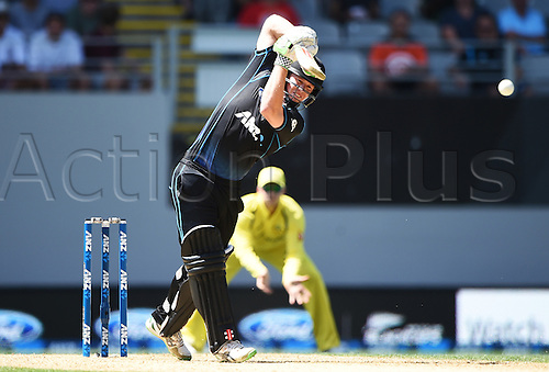 03.02.2016. Auckland, New Zealand.  Henry Nicholls batting. New Zealand Black Caps versus Australia, Chappell Hadlee Trophy and ANZ ODI Cricket Series. Eden Park, Auckland, New Zealand.