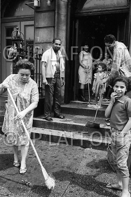 Bronx, New York City, NY. July 1966. <br />