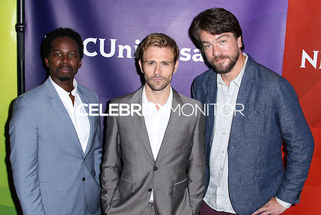 BEVERLY HILLS, CA, USA - JULY 13: Harold Perrineau, Matt Ryan, Charles Halford at the NBCUniversal Summer TCA Tour 2014 - Day 1 held at the Beverly Hilton Hotel on July 13, 2014 in Beverly Hills, California, United States. (Photo by Xavier Collin/Celebrity Monitor)