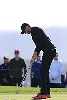 Patrick Rodgers (USA) putts on the 6th green during Sunday's Final Round of the 2018 AT&amp;T Pebble Beach Pro-Am, held on Pebble Beach Golf Course, Monterey,  California, USA. 11th February 2018.<br /> Picture: Eoin Clarke | Golffile<br /> <br /> <br /> All photos usage must carry mandatory copyright credit (&copy; Golffile | Eoin Clarke)
