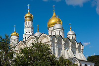 Russia, Moscow, Holy Dormition Cathedral. Cathedral Square.