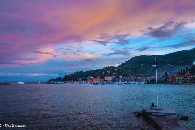 Sunrise Over Santa Margherita's Harbor, Italy.