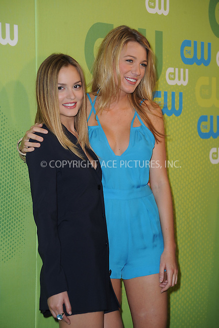 WWW.ACEPIXS.COM . . . . . ....May 21 2009, New York City....Actresses Leighton Meester and Blake Lively arriving at the 2009 The CW Network UpFront at Madison Square Garden on May 21, 2009 in New York City.....Please byline: KRISTIN CALLAHAN - ACEPIXS.COM.. . . . . . ..Ace Pictures, Inc:  ..tel: (212) 243 8787 or (646) 769 0430..e-mail: info@acepixs.com..web: http://www.acepixs.com