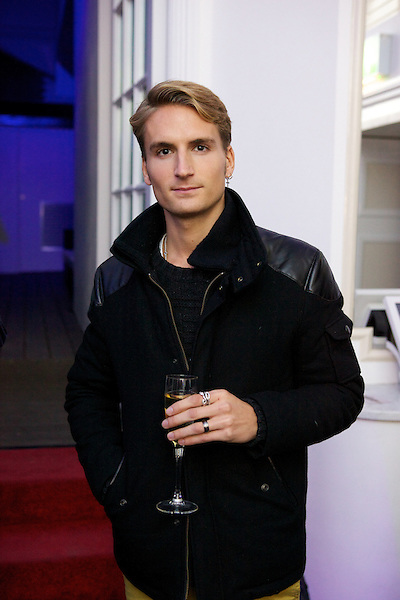 Ollie Proudlock from Made in Chelsea at The Beulah party at Dorsia, South Kensington, London