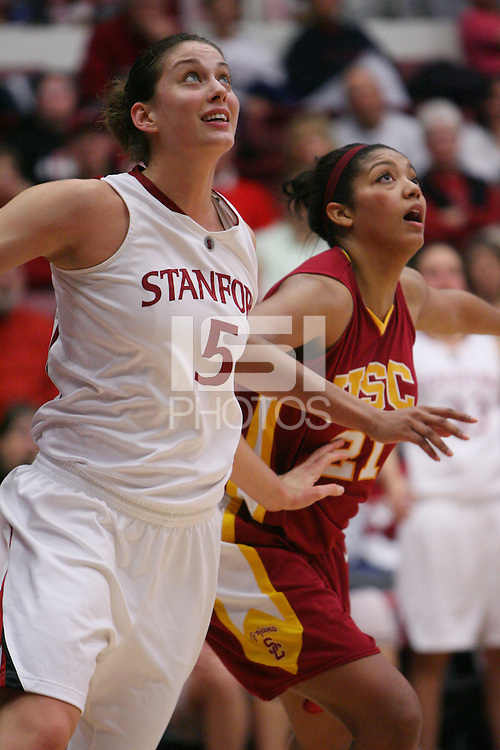 STANFORD, CA - JANUARY 29:  Michelle Harrison of the Stanford Cardinal during Stanford's 81-53 win over the USC Trojans on January 29, 2009 at Maples Pavilion in Stanford, California.