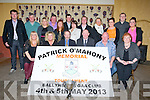 MEMORIAL: Sean Kelly MEP who launched the Patrick O'Mahony Memorial Week-end on Sunday night in the White Sands Hotel, Ballyheigue. Front l-r: Bat O'Mahony, Dora James, Sean Kelly (MEP), Liam O'Mahony,Kieran O'Mahony and Delia Casey. Back l-r: Kevin.John,Kieran,Christy,teresa,Richard,Maureen and Christopher O'Mahony, mary Fuller, Aílín,Damien and Sinead O'Mahony.