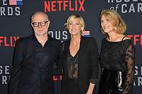 "LOS ANGELES, CA. October 22, 2018: Frank Pugliese, Robin Wright & Melissa James Gibson at the season 6 premiere for ""House of Cards"" at the Directors Guild Theatre.<br /> Picture: Paul Smith/Featureflash"