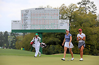 Jennifer Kupcho (USA) and Maria Fassi (MEX) on the 18th green during the final  round at the Augusta National Womans Amateur 2019, Augusta National, Augusta, Georgia, USA. 06/04/2019.<br /> Picture Fran Caffrey / Golffile.ie<br /> <br /> All photo usage must carry mandatory copyright credit (© Golffile | Fran Caffrey)