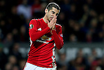 Henrikh Mkhitaryan of Manchester United reacts after missing a chance during the UEFA Europa League match at Old Trafford, Manchester. Picture date: November 24th 2016. Pic Matt McNulty/Sportimage