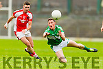 Jonathan Lyne Legion in action against Brendan O'Keeffe Rathmore in the semi-final of the County Senior Football Championship at Fitzgerald Stadium on Sunday.