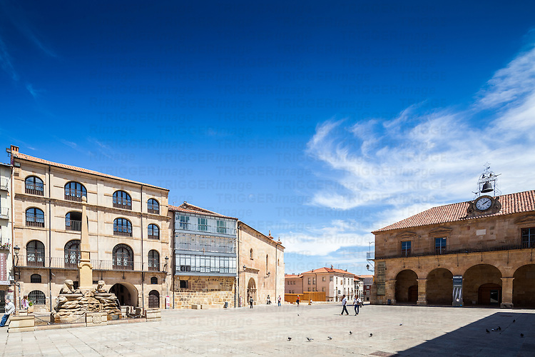 Plaza Mayor (Main Square), Soria, with the Palacio de la Audiencia building on the right