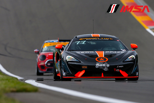 IMSA Continental Tire SportsCar Challenge<br /> Continental Tire 120 at The Glen<br /> Watkins Glen International, Watkins Glen, NY USA<br /> Thursday 29 June 2017<br /> 77, McLaren, McLaren GT4, GS, Nico Rondet, Mathew Keegan<br /> World Copyright: Jake Galstad/LAT Images