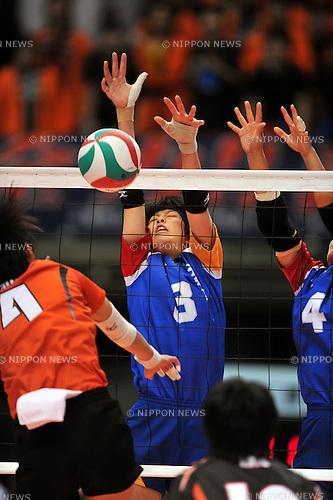 Chika Kitamura (Yamatominami Hight School), JANUARY 7, 2012 - Volleyball :The 64 th All Japan High School Women's Volleyball Championship at Tokyo Metropolitan Gymnasium, Tokyo, Japan. (Photo by Jun Tsukida/AFLO SPORT) [0003]