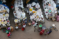 RWANDA, Butare,  food market / Stadtzentrum, Markt mit Lebensmitteln