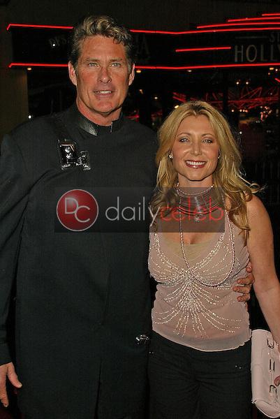 David Hasselhoff and Pamela Bach