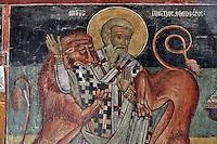 BG61225.JPG BULGARIA, BLACK SEA COAST, NESSEBAR, CHURCH OF ST STEPHAN, 10TH CENTURY, FRESCOS