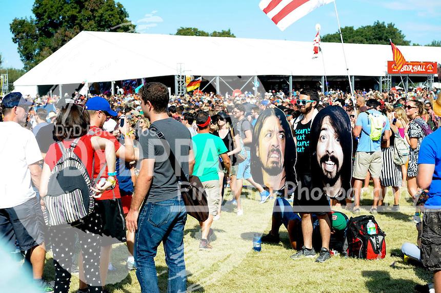 Festivalbesucher auf dem Austin City Limits Music Festival 2015 im Zilker Park. Austin, 04.10.2015
