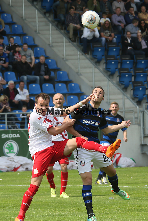 Kopfball Mathew Leckie (FSV) - FSV Frankfurt vs. FC Energie Cottbus, Frankfurter Volksbank Stadion