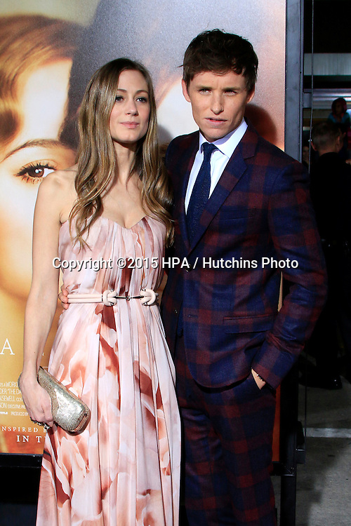 "LOS ANGELES - NOV 21:  Hannah Bagshawe, Eddie Redmayne at the ""The Danish Girl"" Premiere at the Village Theater on November 21, 2015 in Westwood, CA"