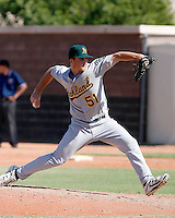 Connor Hoehn - Oakland Athletics 2009 Instructional League.Photo by:  Bill Mitchell/Four Seam Images..