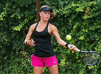 August 4, 2014, Netherlands, Dordrecht, TC Dash 35, Tennis, National Junior Championships, NJK, Mima de Niet (NED) <br /> Photo: Tennisimages/Henk Koster