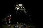 Lava tunnel on the south of la reunion island nearby le tremblet