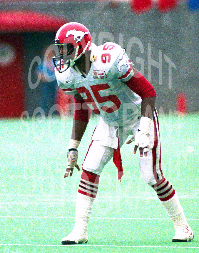 Lemont Jeffers Calgary Stampeders 1987. Photo John Bradley