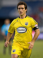Columbus Crew forward Guillermo Barros Schelotto (7) looks for the ball. CD Chivas USA defeated the Columbus Crew 3-1 at Home Depot Center stadium in Carson, California on Saturday July 31, 2010.
