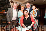 "Poerty Book Launch : Mary Kennelly, Ballylongford signing copies of her latest book of poems ""Catching Bats Takes Patience"" at Kennelly's Bar, Ballylongford on Friday nigh last pictured with Gabriel Fitzmaurice, Breda Carmody, Minister Jimmy Deenihan & Elma Kennelly."