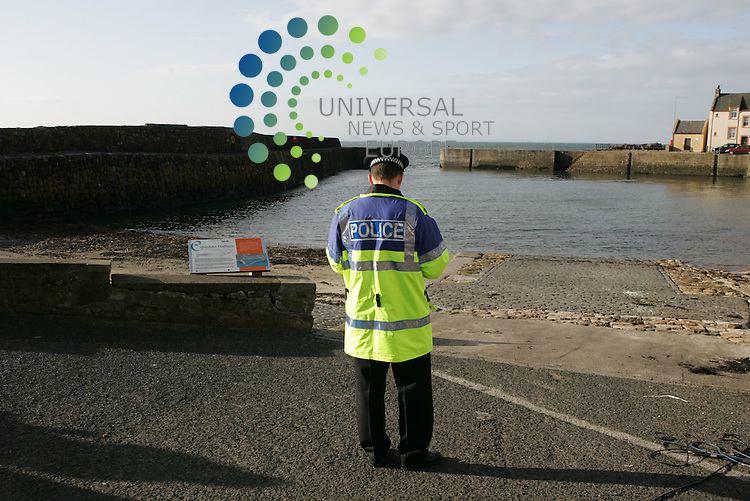 Scotlands first case of bird flu was discovered in the harbour at Cellardyke. A dead swan was found floating at the waters edge by locals who reported it to the authorities...Preliminary tests have confirmed the H5 avian flu virus in a sample from a swan found dead in Fife, health officials have revealed.The exact virus strain is not known, but tests were continuing and further results were expected...The Scottish Executive said restrictions had been put in place around Cellardyke, east of Anstruther...If the disease is confirmed as the deadly H5N1 strain there may be further restrictions set up...Pic Alan MacGregor Ewing/UNS Photo...