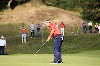 Joost Luiten (NED) on the 9th during Round 2 of the KLM Open at Kennemer Golf &amp; Country Club on Friday 12th September 2014.<br /> Picture:  Thos Caffrey / www.golffile.ie