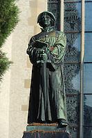 Zwingli-Denkmal vor Wasserkirche, Zürich, Schweiz